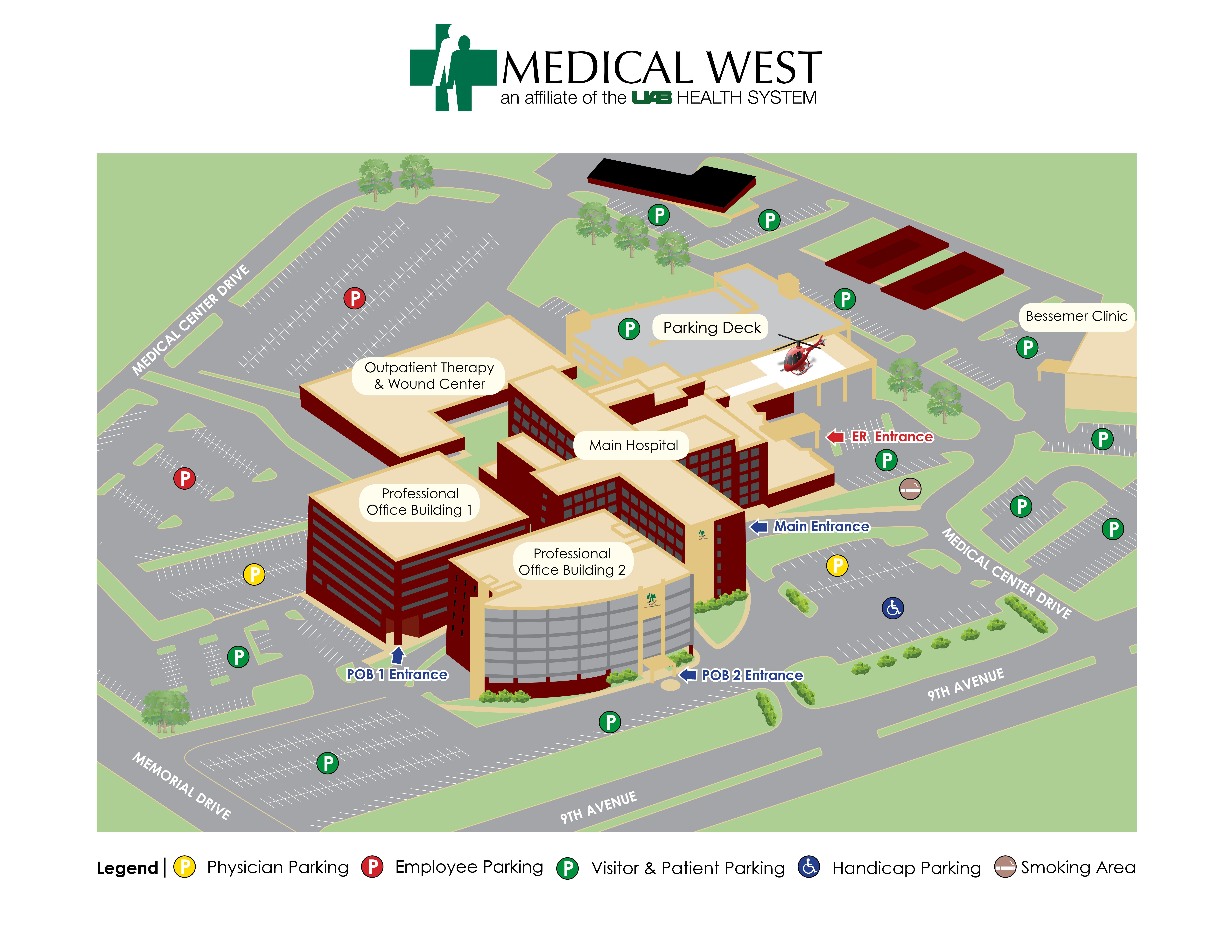 Medical West Hospital Map