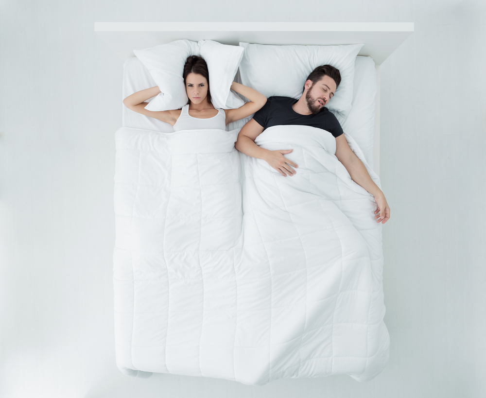 Sleeplessness of partners due to snoring.